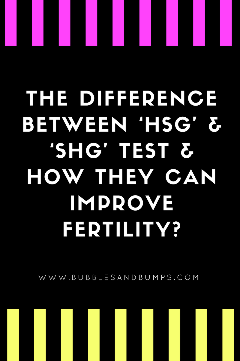 difference between the hsg and the water test shg and how they can improve fertility